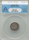 Bust Dimes: , 1832 10C -- Damaged -- ANACS. XF45 Details. NGC Census: (10/234).PCGS Population: (47/298). Mintage 522,500. ...
