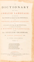 Books:World History, Samuel Johnson. A Dictionary of the English Language: In which the words are deduced from their originals, and ill... (Total: 2 Items)