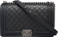 Luxury Accessories:Bags, Chanel Black Quilted Calfskin Leather New Mediu...
