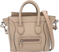 "Luxury Accessories:Bags, Celine Taupe Leather Nano Luggage Tote Bag. Condition: 4. 8""Width x 7.5"" Height x 4"" Depth. ..."