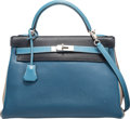 Luxury Accessories:Bags, Hermes Special Order Blue Jean, Blue Thalassa, Indigo, & G...