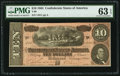 Confederate Notes:1864 Issues, T68 $10 1864 PF-42 Cr. 551 .. ...