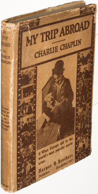 Charlie Chaplin. My Trip Abroad. New York: [1922]. First edition, inscribed