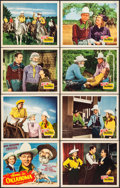 "Movie Posters:Western, Home in Oklahoma (Republic, 1946). Lobby Card Set of 8 (11"" X 14""). Western.. ... (Total: 8 Items)"