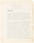 """Books:Philosophy, Walter Benjamin. Corrected carbon typescript of the essay """"Nordische See."""" [No place: no date, c. 1930]. Original carbon typ..."""