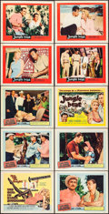 """Movie Posters:Crime, The Girl in Black Stockings & Other Lot (United Artists, 1957).Title Lobby Cards (2) & Lobby Cards (8) (11"""" X 14""""), Mexican...(Total: 13 Items)"""