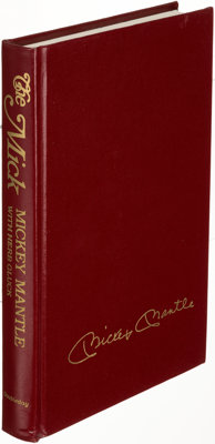 Mickey Mantle with Herb Gluck. The Mick. Garden City: 1985. First edition, limited and signed