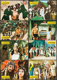 """Taur, the Mighty & Other Lot (Filmax, 1963). Mexican Lobby Cards (24) (13.5"""" X 9.5""""). Adventure. ... (Tota..."""