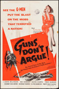 "Movie Posters:Crime, Guns Don't Argue (Columbia, 1957). One Sheet (27"" X 41""). Crime....."