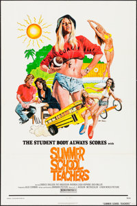 "Summer School Teachers & Other Lot (New World, 1975). One Sheets (2) (27"" X 41""). Sexploitation. ... (Tota..."