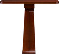 Furniture : Continental, A French Art Deco Lacquered Mahogany Console Table, circa 1925. 39h x 43-1/2 w x 12 d inches (99.1 x 110.5 x 30.5 cm). PR...