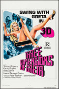 "Movie Posters:Sexploitation, Three Dimensions of Greta (Dimension, 1973). One Sheet (27"" X 41"").Sexploitation.. ..."