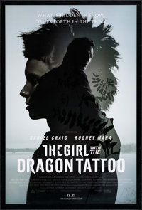 "The Girl with the Dragon Tattoo (Columbia, 2011). One Sheets (2) (27"" X 40"") DS Advance and Regular Styles. Th..."