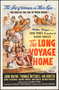 """Movie Posters:Drama, The Long Voyage Home (United Artists, 1940). One Sheet (27"""" X 41""""). Drama.. ..."""