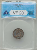 Bust Dimes, 1829 10C Small 10C VF20 ANACS. NGC Census: (0/2). PCGS Population:(12/309). VF20. Mintage 770,000. ...
