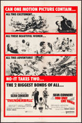 """Movie Posters:James Bond, Thunderball/You Only Live Twice Combo (United Artists, R-1970). OneSheet (27"""" X 41""""). James Bond.. ..."""