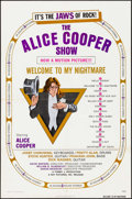 "Movie Posters:Rock and Roll, Alice Cooper: Welcome to My Nightmare (Key Pictures, 1975). One Sheet (27"" X 41""). Rock and Roll.. ..."