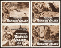 "Movie Posters:Documentary, Beaver Valley (RKO, 1950). Lobby Card Set of 4 (11"" X 14""). Documentary.. ... (Total: 4 Items)"