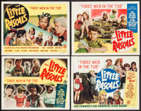 "The Little Rascals in Three Men in a Tub (Monogram, R-1952). Very Fine-. Stock Lobby Card Set of 4 (11"" X 14"")..."