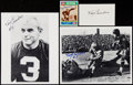 Football Collectibles:Photos, Tony Canadeo Signed Photograph, Index Card, and 1990 Swell #88 (Lot of 4).. ...