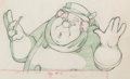 Animation Art:Production Drawing, Pinocchio Coachman Animation Drawing (Walt Disney, 1940)....