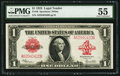 Large Size:Legal Tender Notes, Fr. 40 $1 1923 Legal Tender PMG About Uncirculated 55....