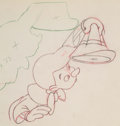 "Animation Art:Production Drawing, Pinocchio ""Give a Little Whistle"" Animation Drawing (Disney,1940). ..."