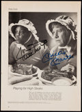 """Autographs:Photos, Willie Mays and Mickey Mantle Signed """"SPORT"""" MagazineAdvertisement.. ..."""