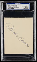 Autographs:Index Cards, Mickey Mantle Cut Signature, PSA/DNA Authentic.. ...