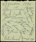 Autographs:Others, 1956 New York Yankees Team Signed Sheet (31 Signatures).. ...