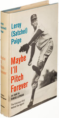 Books:Sporting Books, Leroy (Satchel) Paige. Maybe I'll Pitch Forever. GardenCity: 1962. First edition, presentation copy....