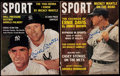 "Autographs:Others, Lot of 2 Mickey Mantle Signed ""SPORT"" Magazines. ..."