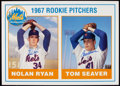 Autographs:Others, Dual Signed Nolan Ryan and Tom Seaver Oversized Rookie Card. . ...