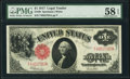 Large Size:Legal Tender Notes, Fr. 39 $1 1917 Legal Tender PMG Choice About Unc 58 EPQ.