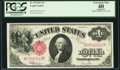 Large Size:Legal Tender Notes, Fr. 39 $1 1917 Legal Tender PCGS Apparent Extremely Fine 40.. ...