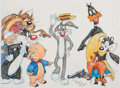 Animation Art:Production Drawing, Virgil Ross - Bugs Bunny and Friends Drawing (Warner Brothers, c.1990s).. ...