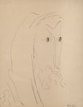Fine Art - Work on Paper, Ben-Zion Weinman (American, 1897-1987). Portrait of a Man.Lithograph on paper. 11-1/2 x 9 inches (2...