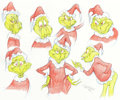 "Animation Art:Production Drawing, Virgil Ross - The Grinch ""Model Sheet"" Drawing Original Art (MGM,c. 1990s).. ..."