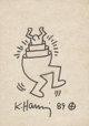Keith Haring (1958-1990) Untitled, 1989 Ink on cardboard 12 x 9 inches (30.5 x 22.9 cm) Signed and dated on recto: ... (...