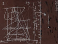 Fine Art - Work on Paper:Drawing, Vincenzo Agnetti (1926-1981). Untitled. Chalk and ink onpaper. 19-7/8 x 26 inches (50.5 x 66.0 cm) (sheet). ...
