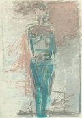 Fine Art - Work on Paper:Drawing, Manuel Neri (b. 1930). Vicola III, 1988. Oil-based pigmentsand charcoal on paper. 39-1/4 x 27-3/4 inches (99.7 x 70.5 c...