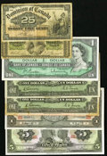 Canadian Currency: , A Selection of Bank Notes from Canada, Mexico, and Suriname ca.1870-1969 Twelve Notes and One Informational Slip of Paper....(Total: 13 items)