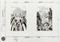 "Original Comic Art:Illustrations, Rick Hoberg DC Cosmic Cards #131 ""Glorious Godfrey"" and #132""Granny Goodness"" Illustration Original Art (DC/Impel..."