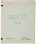 Memorabilia:Movie-Related, Blondie: The Other Woman TV Episode Script (Hal Roach,1956)....