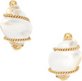 Estate Jewelry:Earrings, Quartz, Gold Earrings, Seaman Schepps. ...