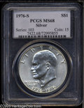 Eisenhower Dollars: , 1976-S $1 Silver MS68 PCGS. A lustrous and splendidly preserved Superb Gem with a sharp strike and untoned surfaces. All M...