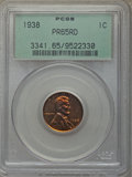 Five-Piece 1938 Proof Set PR65 to PR66 PCGS. The coins are separately certified in old green label holders. The set incl...