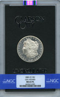 1885-CC $1 GSA MS63 Prooflike NGC. NGC Census: (140/159). PCGS Population: (4/9). Mintage 228,000