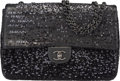 Luxury Accessories:Bags, Chanel Black Sequin & Lambskin Moonlight on Water Jumbo Si...