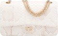 "Luxury Accessories:Bags, Chanel White Python Reissue 225 Double Flap Bag with Gold Hardware. Condition: 1. 9.5"" Width x 6"" Height x 3"" Depth..."